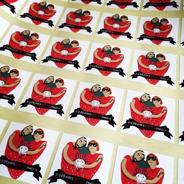 #weddingontheroad adesivi