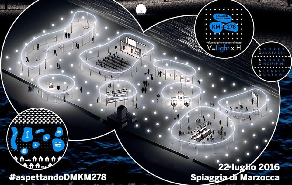 Il progetto vincitore per l'allestimento in spiaggia della VI edizione di Demanio Marittimo.km-278